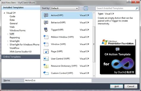 C# Action Template for WPF - Visual Studio Marketplace