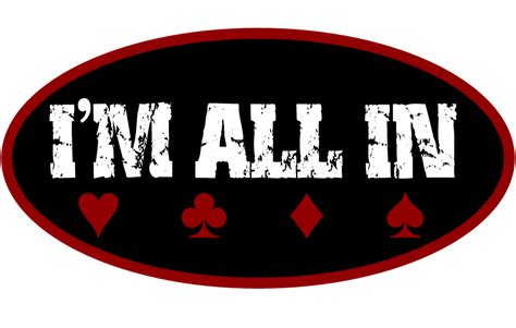 """""""I'M ALL IN"""" Texas Holdem Poker Tee's By Pocket Rocket"""