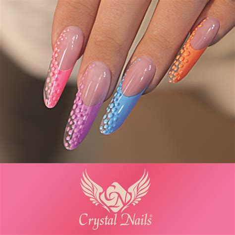 Pipe nails with Crystal Nails Royal #gel (cleansing free