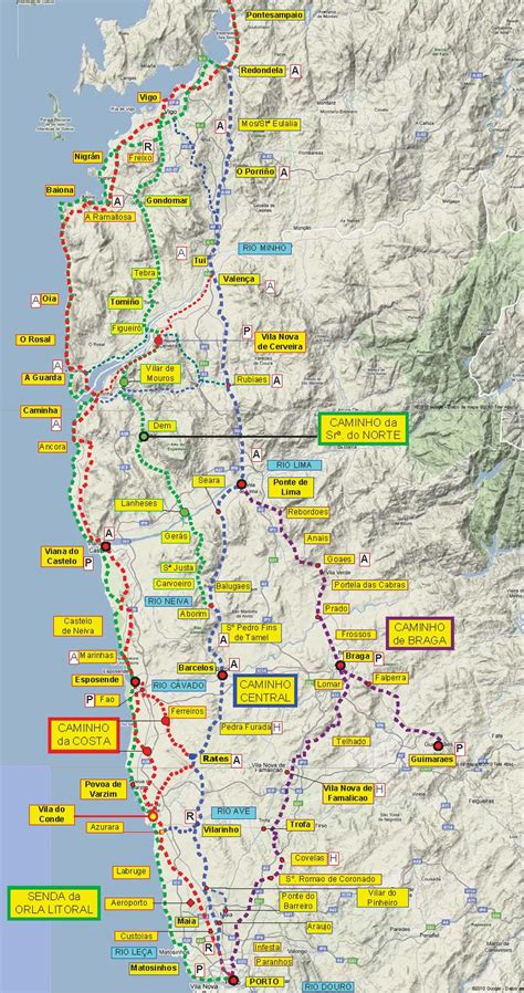 great camino portugues resource! downloadable maps and