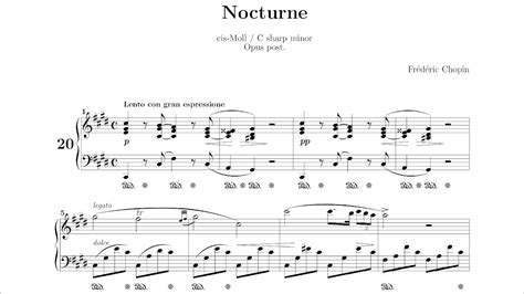 Frédéric Chopin Nocturne No 20 In C Sharp Minor, Op Posth