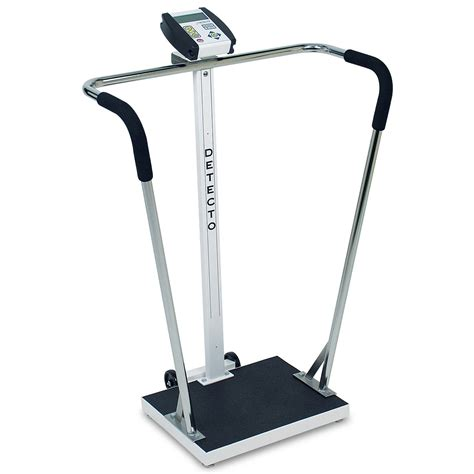 Detecto 6855 Digital Waist-High Stand-On Scale 600lb Capacity