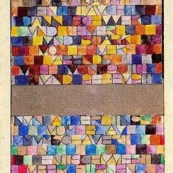 Paul Klee Letter Painting: you could easily tie this into