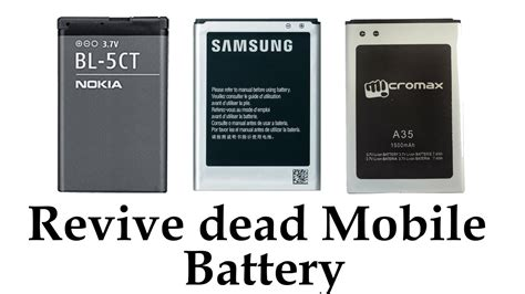 How to Revive a dead cellphone battery (Any Brand) - YouTube