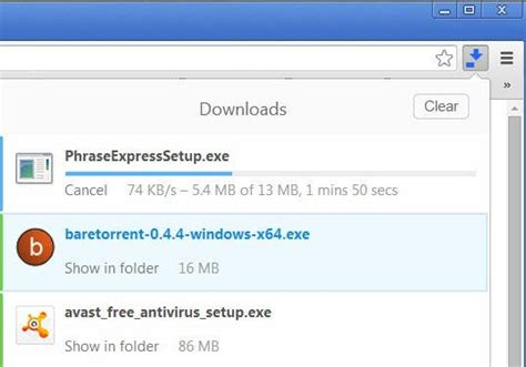 Make Chrome's Download Manager use less space in the