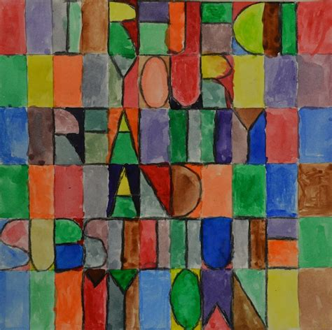 Expedition: Art: Middle School Study of Paul Klee Letter