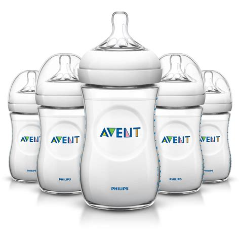 Philips Avent BPA Free Natural Baby Bottles, 9 Ounce, 5