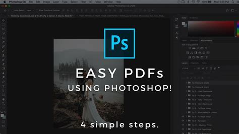 Multi Page PDF In Photoshop Tutorial (How to make a pdf in