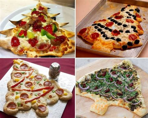 Christmas Tree Pizza :) | cooking | Pinterest
