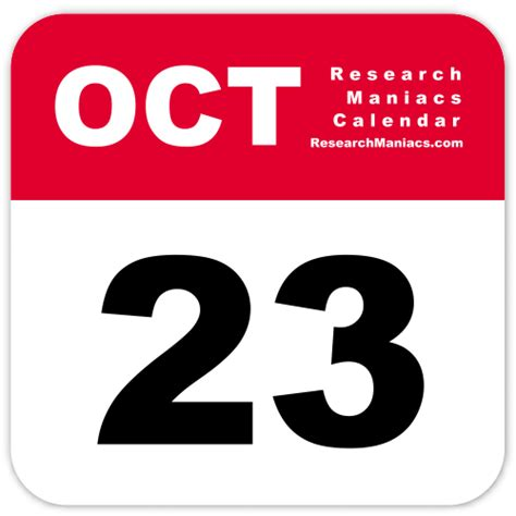 Information about October 23