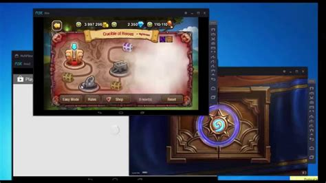 Nox play multi- mobile game on pc - YouTube