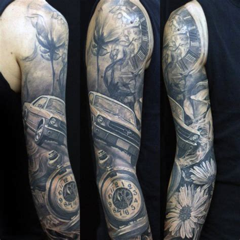 40 Mustang Tattoo Designs For Men - Sports Car Ink Ideas