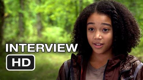 The Hunger Games - Amandla Stenberg Interview (2012) HD
