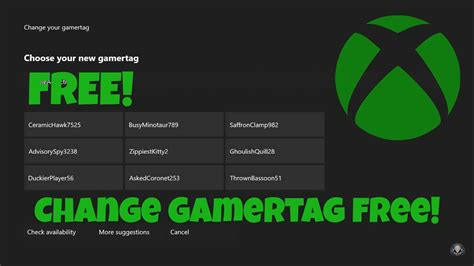 HOW TO CHANGE YOUR XBOX GAMERTAG FOR FREE | Second free
