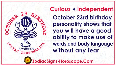 October 23 Zodiac – Accurate Birthday Personality