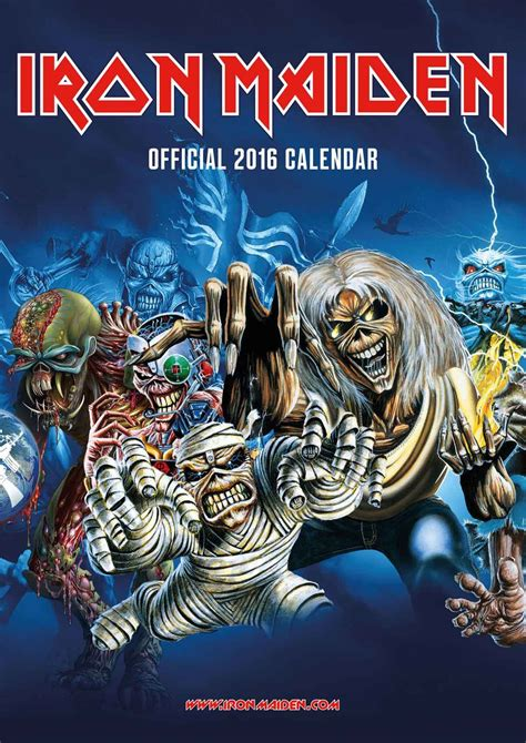 Accessories Review – Iron Maiden 2016 Calendar | THE