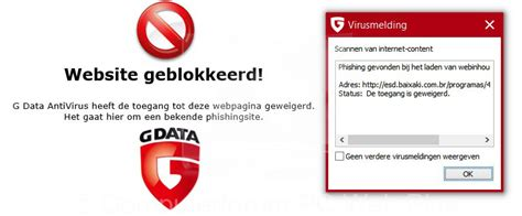 G DATA Website geblokkeerd! - PC Web Plus