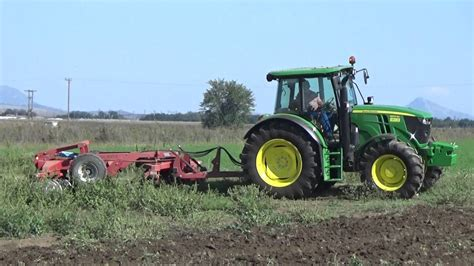 JOHN DEERE 6100RC WITH FOUKAS DISK HARROW - YouTube