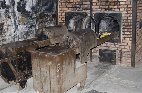 Oven for incineration in Auschwitz — Stock Photo © Arsgera