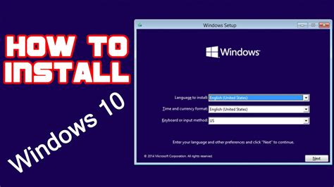 How to install windows 10 - YouTube