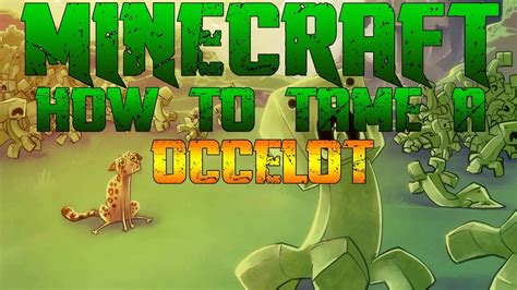 Minecraft Xbox 360: How to tame/make a Ocelot your pet